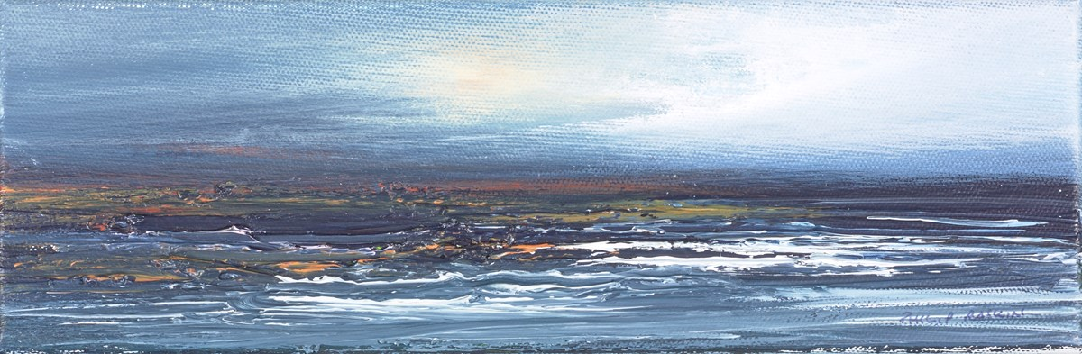 Calm Seas III by philip raskin -  sized 12x4 inches. Available from Whitewall Galleries